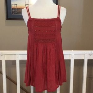 American Eagle Eyelet Detail Cami Size Small